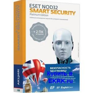 ESET NOD32 Smart Security  - лицензия на 2 года 3 ПК (электронно)