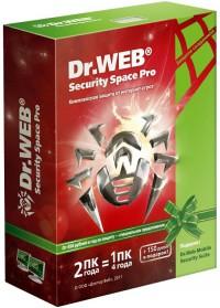 Dr. Web® Security Space PRO, коробка на 1 год 1 ПК продление
